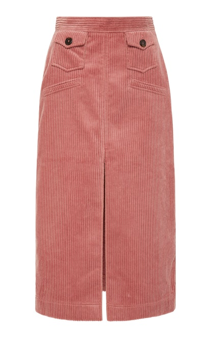 Corduroy Midi Skirt