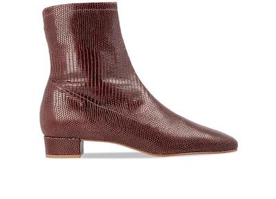 Este Lizard-Embossed Leather Boots
