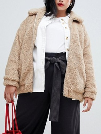 New Look Teddy Faux Fur Bomber