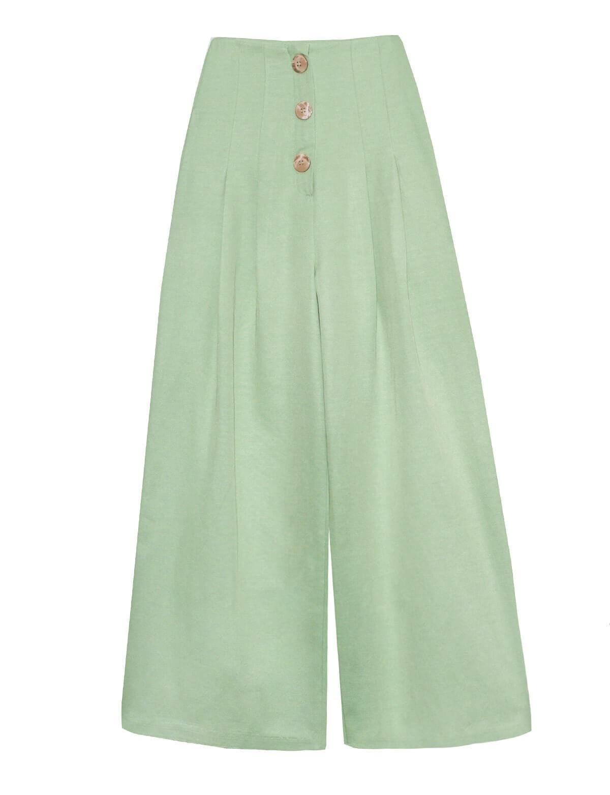 Mint Wide Leg Crop Pants