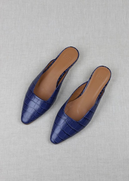 Carmen Azulejo Croc Mules
