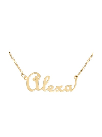 Personalized Script Name With Heart Necklace