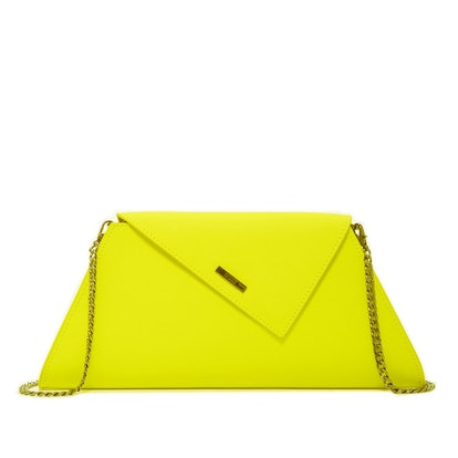 Angelica Leather Clutch With Shoulder Strap