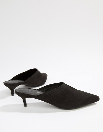 New Look Stretch Pointed Mule