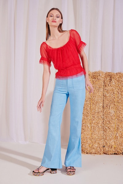 Sweeny Top in Red