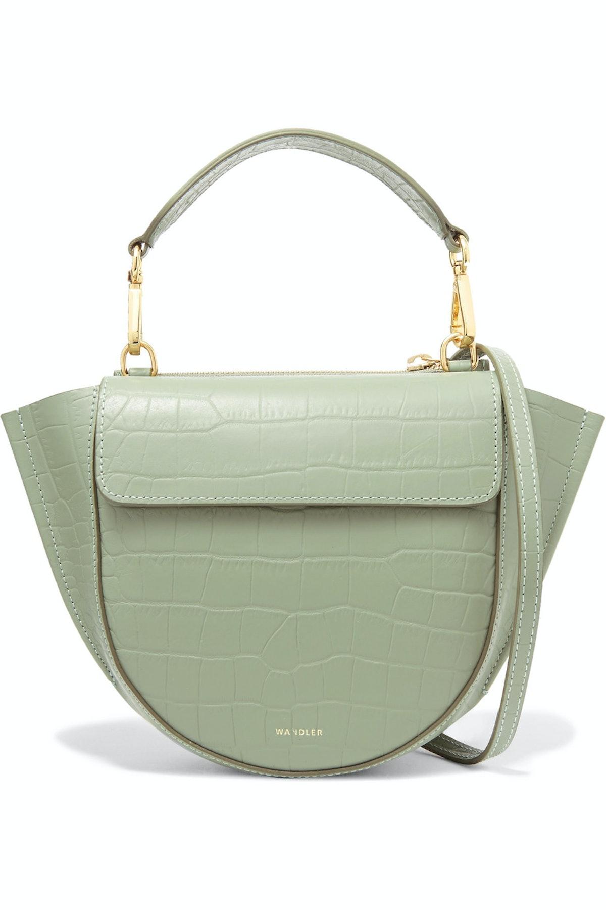 Hortensia Mini Croc-Effect Leather Shoulder Bag