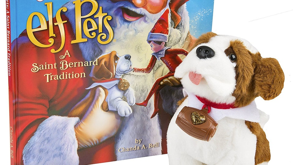 c7c952e75744f The Elf On The Shelf s Newest Pet Is A St. Bernard Who Loves To Spread  Holiday Cheer