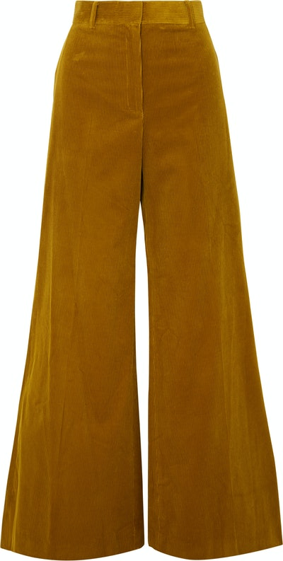 Bianca Cotton-Corduroy Wide-Leg Pants