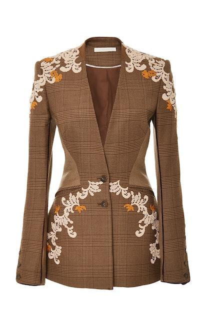 Wool Applique Basque Jacket