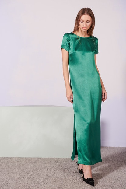 Halliwell Dress in Emerald