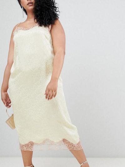 Soft Jacquard Slip Dress