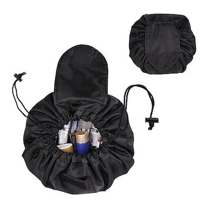 Cosmetic Bag Organizer, Fintie Waterproof Portable Drawstring Large Capacity Makeup Travel Case Storage Bag