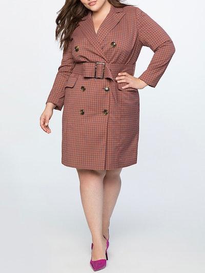 Long Sleeve Blazer Dress
