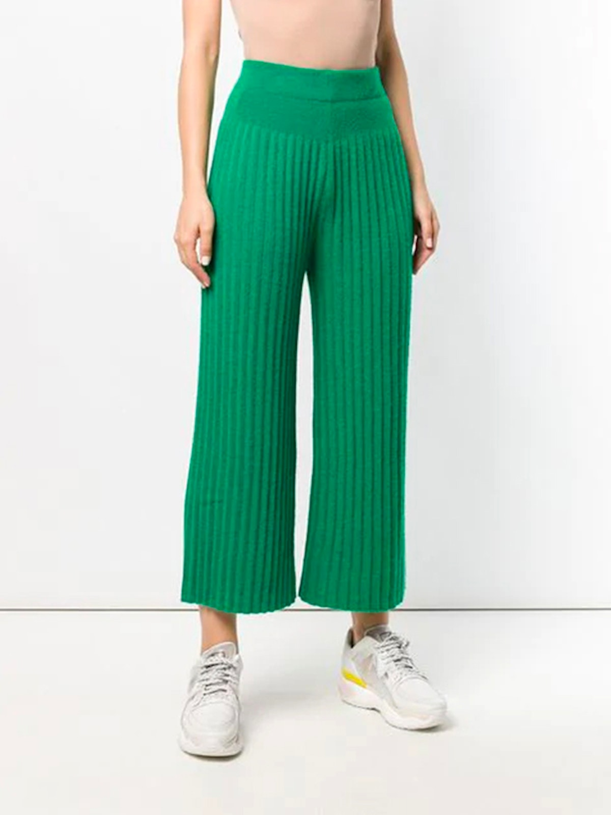 Cropped Pleat Trousers