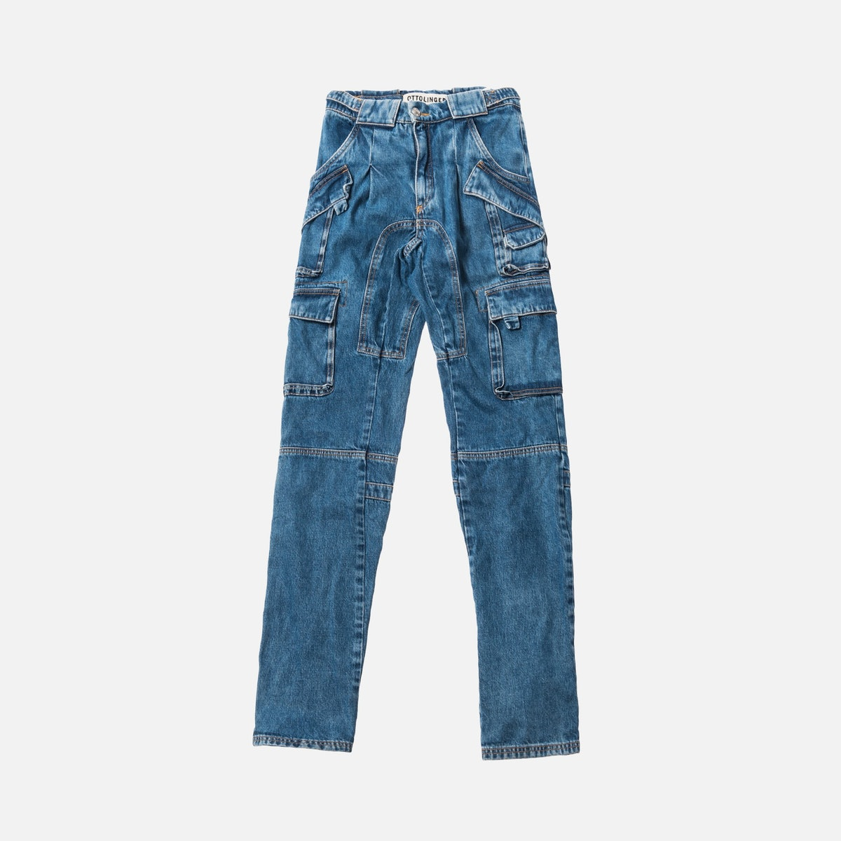 Denim Cargo Pants