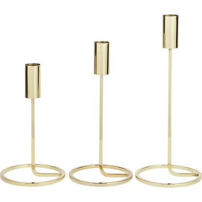 3-Piece Roundabout Tapered Candle Holder Set