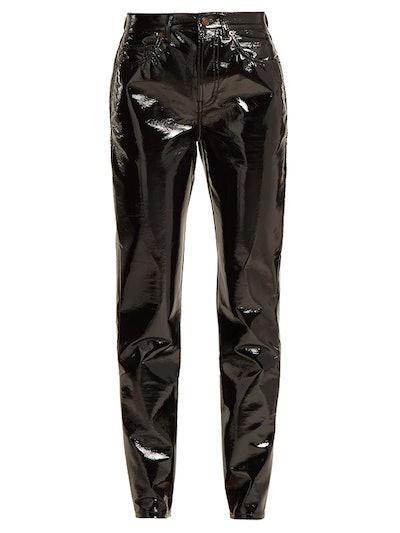 High-Rise PVC Trousers