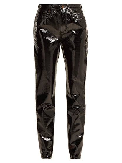 High-Rise PVC Trousers