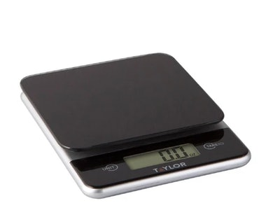 Taylor Digital 11lb Glass Top Food Scale Black