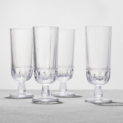 Hearth & Hand with Magnolia Glass Goblet Tall Set of 4