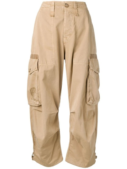 High-Rise Cargo Trousers
