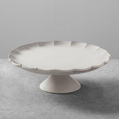 Hearth & Hand with Magnolia Stoneware Scalloped Cakestand Large