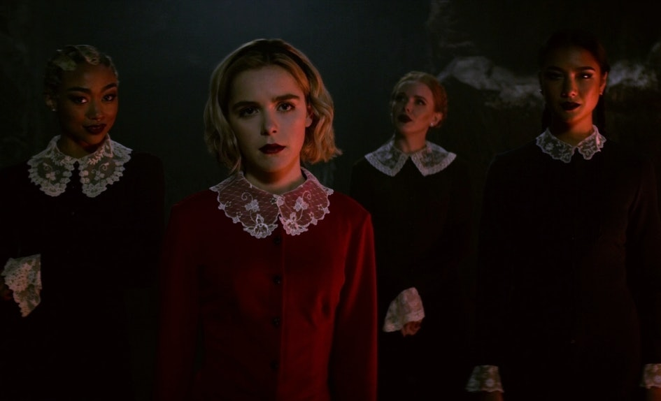 Sabrina S White Hair In Chilling Adventures Of Sabrina