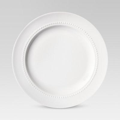 """Threshold 8.3"""" Porcelain Beaded Salad Plate White"""