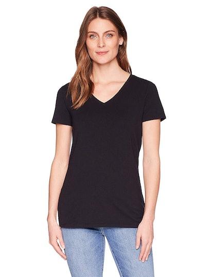 Amazon Essentials Women's Short-Sleeve V-Neck (2-Pack)