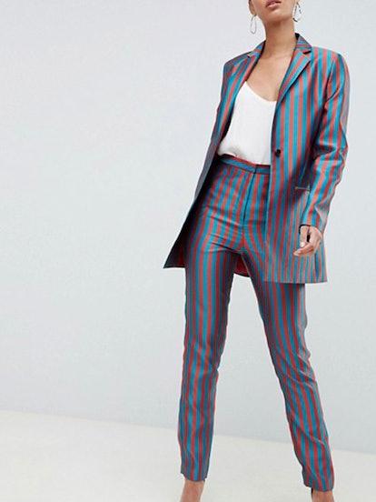 Stripe Jacquard Suit