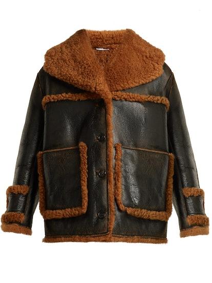 Oversized Shearling Coat