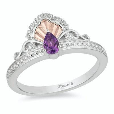 Enchanted Disney Fine Jewellery Amethyst & Diamond Ariel Ring