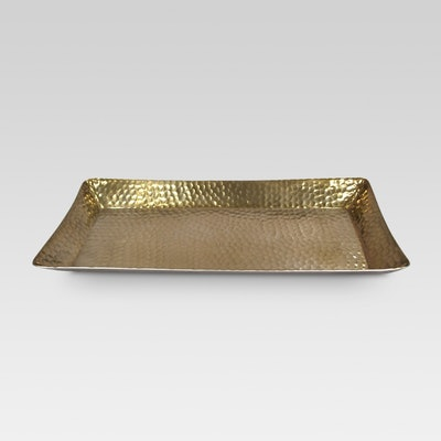 Threshold Metal Hammered Serving Tray
