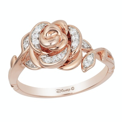 Enchanted Disney Fine Jewellery Rose Gold Diamond Belle Ring