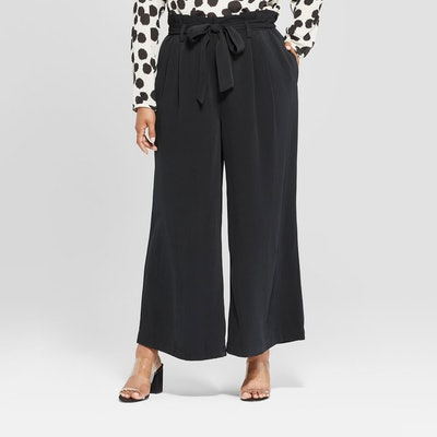 Wide Leg Paperbag Pants