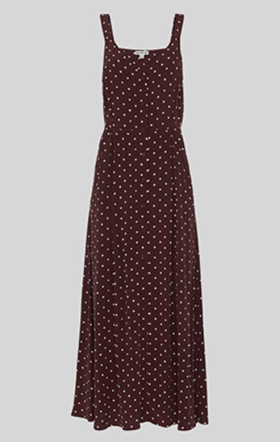 Spot Print Maxi Dress