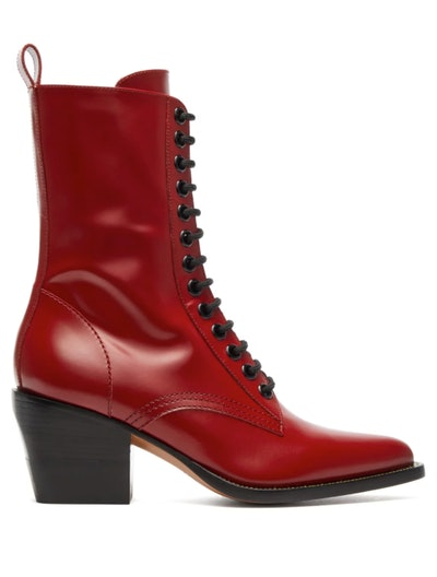 Point-Toe Leather Boots