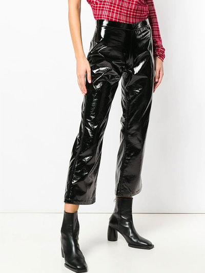 PVC Cropped Trousers