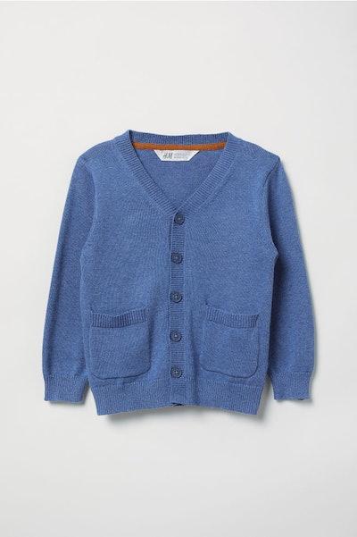 Fine-knit Cardigan Sweater