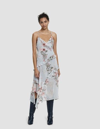 Stelen Celestine Asymmetric Floral-Print Dress