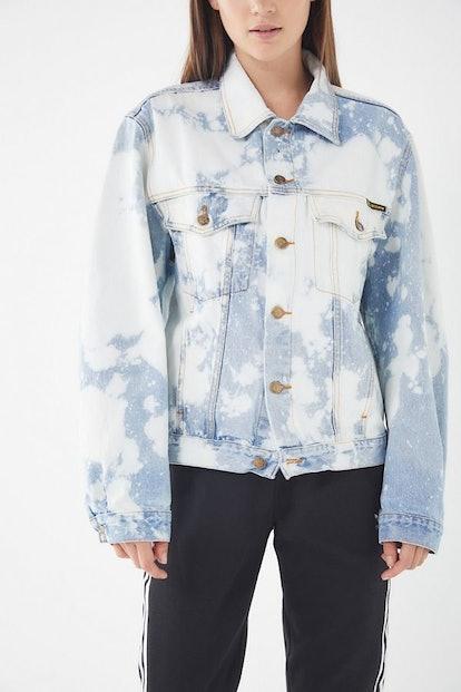 Urban Renewal Remade Bleach Splattered Denim Jacket