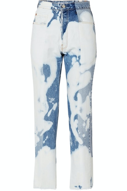 E.L.V. Denim The Twin Bleached High-Rise Straight-Leg Jeans