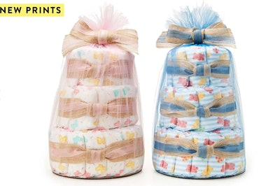 Mini Diaper Cakes In Sweet Thing Or Boo Bear Prints