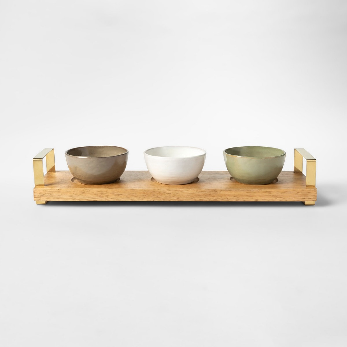 Cravings by Chrissy Teigen Tidbit Bowls with Wood Tray
