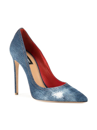 DSQUARED2 Denim Lurex Blade Pumps