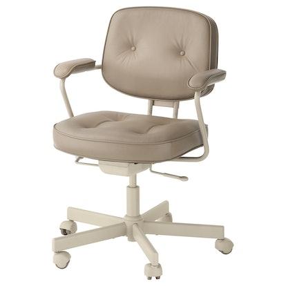 ALEFJÄLL Swivel Chair In Grann Beige