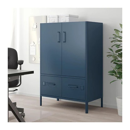 IDÅSEN Cabinet With Doors And Drawers In Blue