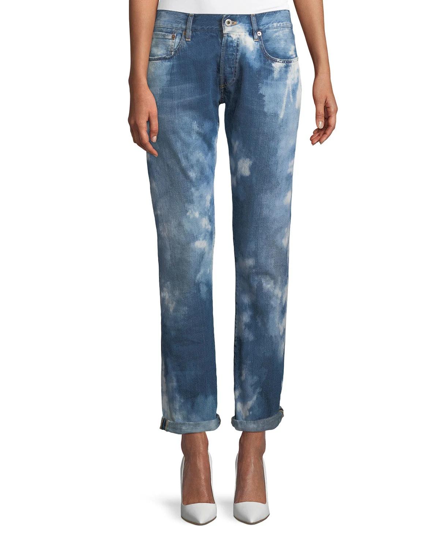 Ralph Lauren Collection Mid-Rise Straight-Leg Coastal Denim Jeans
