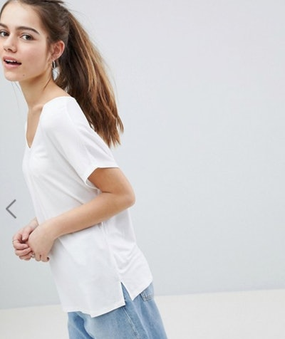 ASOS DESIGN Petite T-Shirt With Drapey Batwing Sleeve