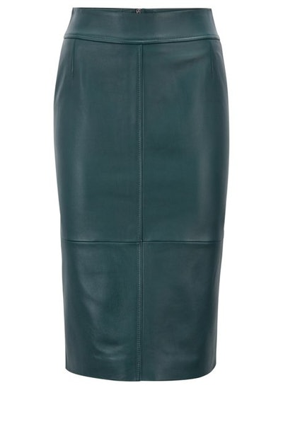 Lambskin-Leather Pencil Skirt With Panelled Structure